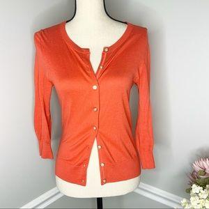 BANANA REPUBLIC Orange Button Down Sweater